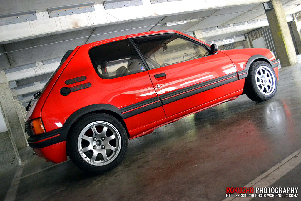 peugeot 205 gti rokusho photo wallpaper fond ecran. Black Bedroom Furniture Sets. Home Design Ideas